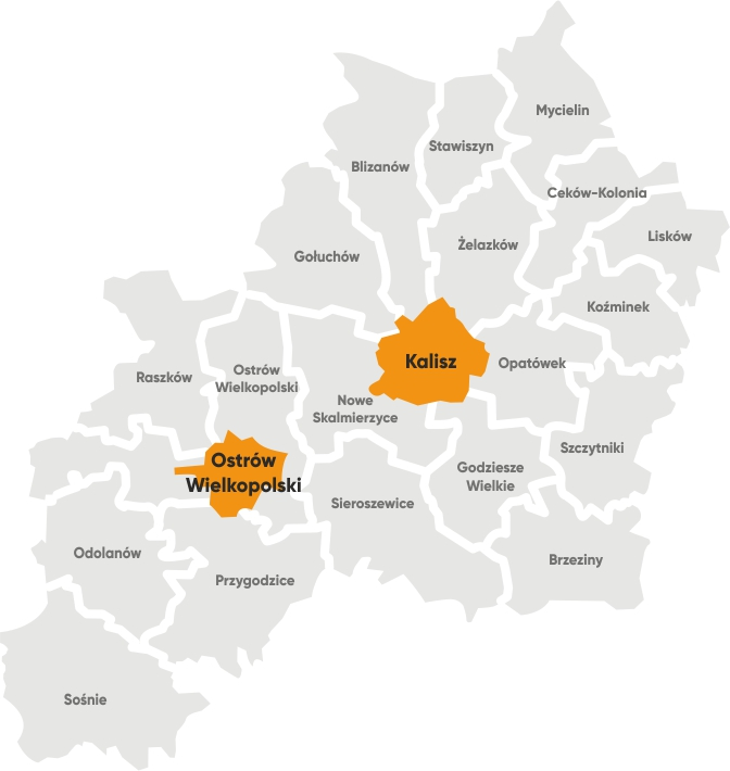 Mapa Aglomeracji Kalisko-Ostrowskiej