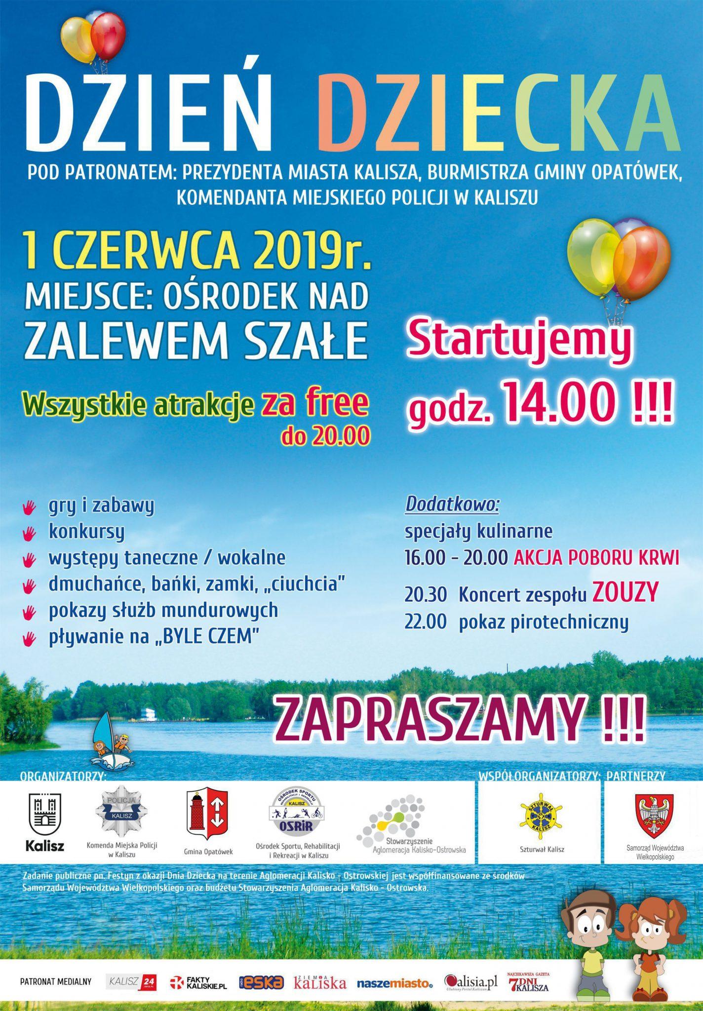 plakat dd19 kalisz aglomeracja - Zapraszamy na Festyn z okazji Dnia Dziecka na terenie Aglomeracji Kalisko – Ostrowskiej
