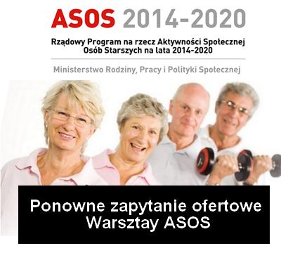 ponowne zapytanie ofertowe warsztaty asos - Ponowne zapytanie ofertowe na kompleksową obsługę i organizację warsztatów dla Seniorów na terenie Aglomeracji Kalisko-Ostrowskiej