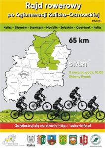 rajd plakatoooaqamgphgxr7ylzji 213x300 - Rajd rowerowy po Aglomeracji Kalisko - Ostrowskiej - etap I (Kalisz - Blizanów - Stawiszyn - Mycielin - Żelazków - Opatówek - Kalisz)