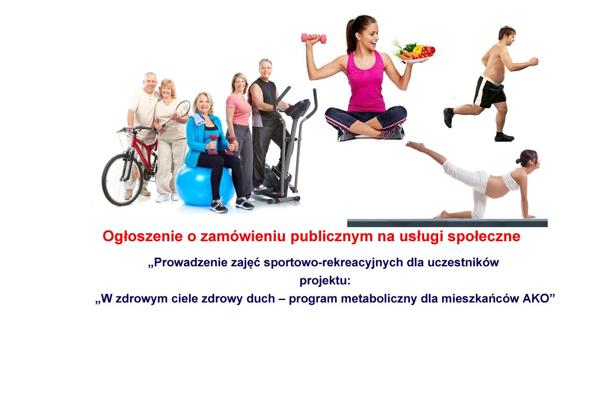 """zdj splash aktywnosc - Ogłoszenie o zamówieniu na usługi społeczne - Prowadzenie zajęć sportowo-rekreacyjnych dla uczestników projektu """"W zdrowym ciele zdrowy duch – program metaboliczny dla mieszkańców AKO"""""""