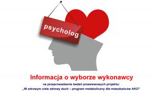 info wybor psycholog 300x200 - Informacja o wyborze najkorzystniejszej oferty na prowadzenie usług w zakresie konsultacji psychologicznych