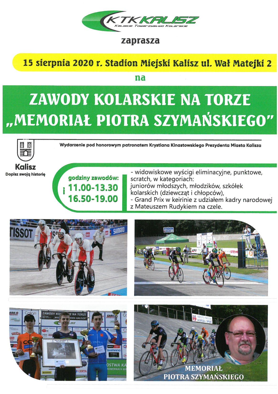 """s28bw 5e20081314470 0001 - Zawody Kolarskie na Torze """"Memoriał Piotra Szymańskiego"""" - 15 sierpnia 2020 r."""