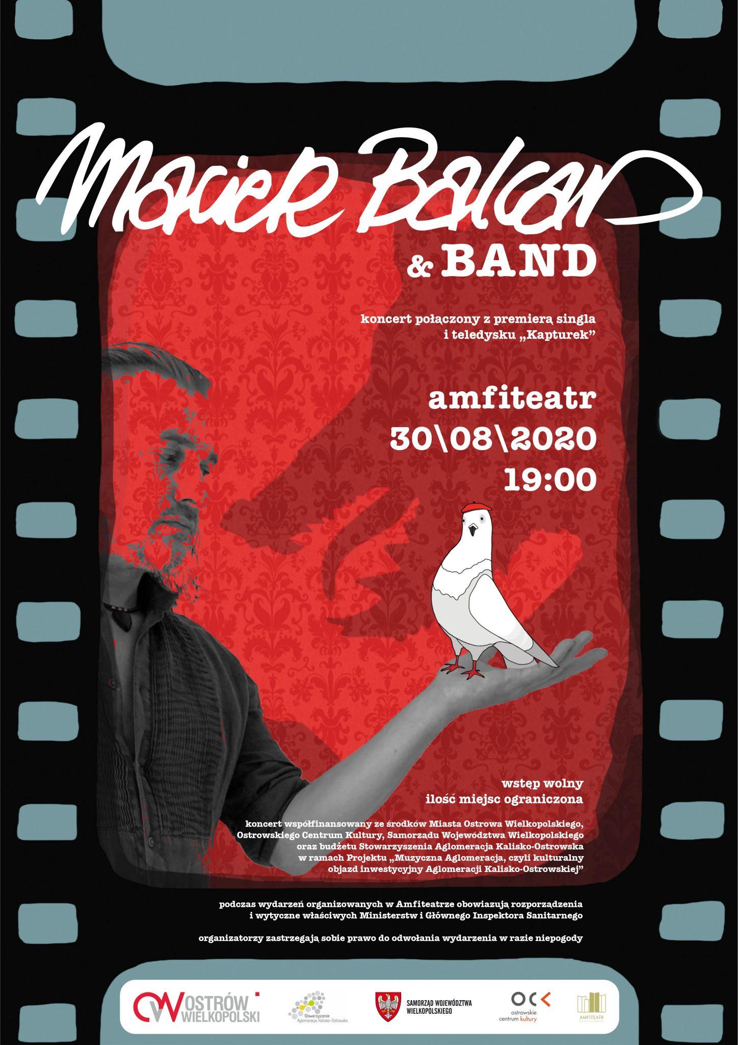 balcar amfiteatr afiszv2 do druku - Zapraszamy na koncert w Ostrowie Wielkopolski - Maciek Balcar & Band