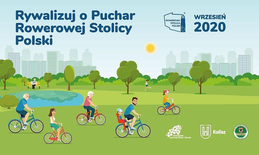 Plakat promujący rywalizację o Puchar Rowerowej Stolicy Polski
