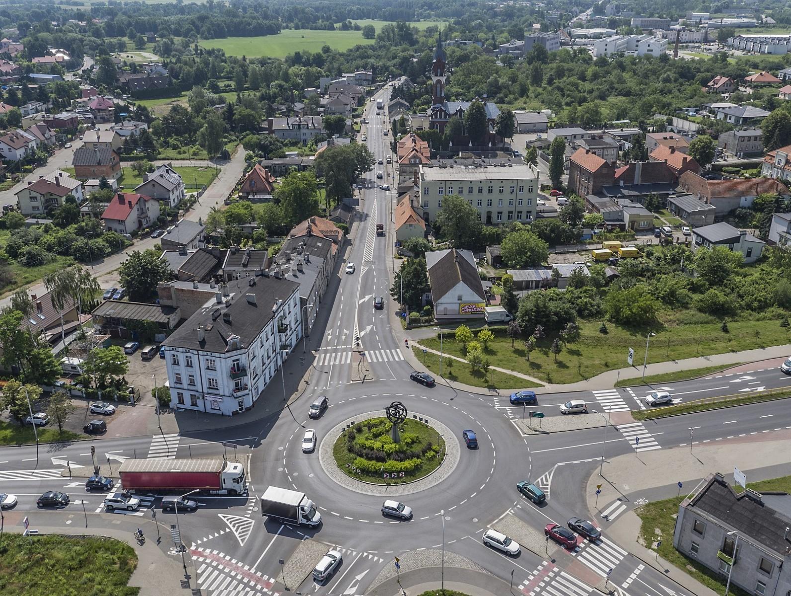 Panorama Kalisza - droga wojewódzka nr 450