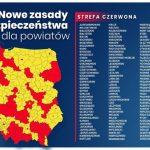lista powiatow 150x150 - Nowe obostrzenia wzwiązku zpandemią COVID-19