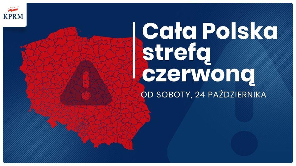 Cała Polska czerwoną strefą od 24.10