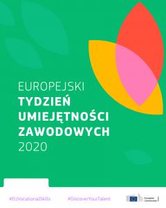 Plakat promujący Europejski Tydzień Umiejętności Zawodowych