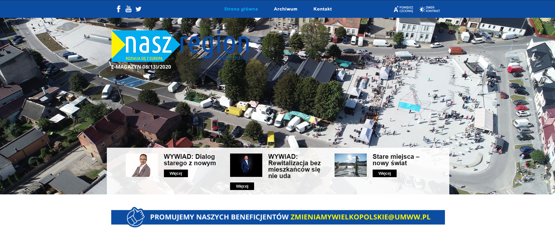 Strona e-magazynu Nasz Region