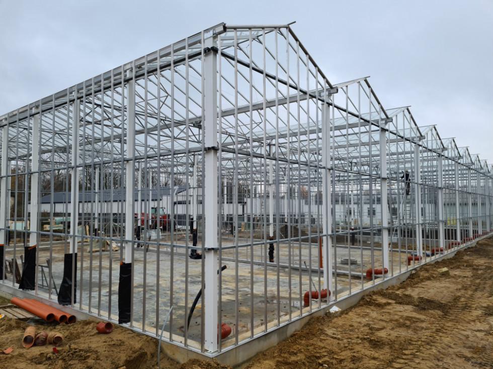 Trwające prace budowlane przy Zespole Szkół w Opatówku
