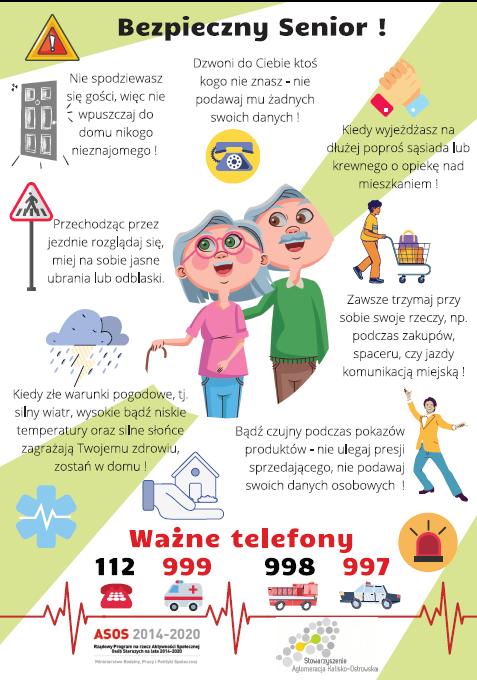 ulotka 2 - ASOS 3 Bezpieczni i zdrowy Senior w Aglomeracji Kalisko-Ostrowskiej