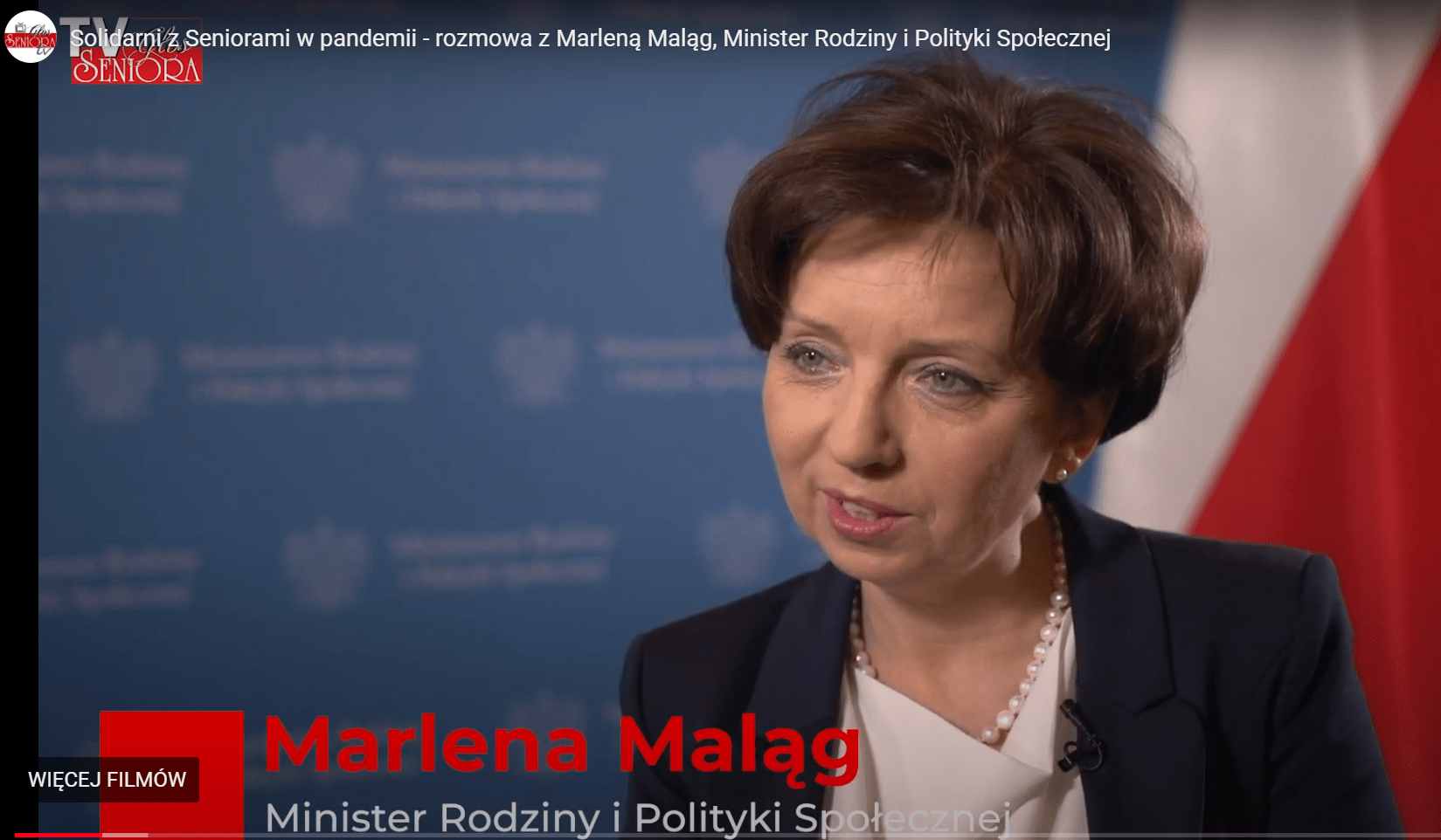 wywiad minister malag - Solidarni z Seniorami w pandemii