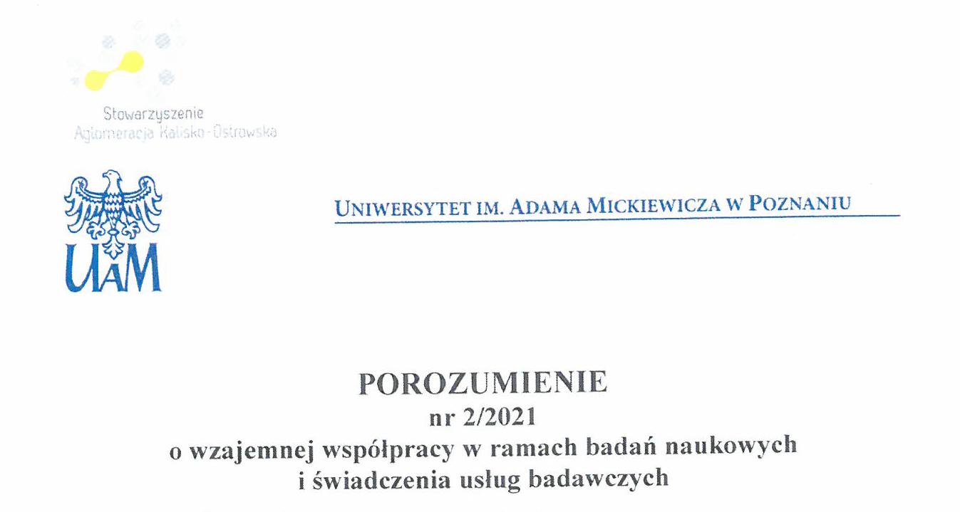 porozumienie z uam 1 strona - Współpracujemy z Uniwersytetem im. Adama Mickiewicza w Poznaniu !