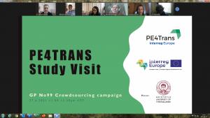 """27.04.2021 spotkanie online 300x169 - Spotkania studyjne wramach międzynarodowego projektu PE4Trans """"Public Engagement for Sustainable Public Transport""""."""