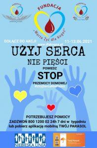"""uzyj sercanie piesci plakat 2021 197x300 - Wspieramy ogólnopolską akcję społeczną pn.""""UŻYJ SERCA, NIEPIĘŚCI"""" !"""