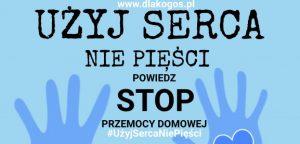 """uzyj sercanie piesci plakat 2021 e1623071894577 300x144 - Wspieramy ogólnopolską akcję społeczną pn. """"UŻYJ SERCA, NIE PIĘŚCI"""" !"""