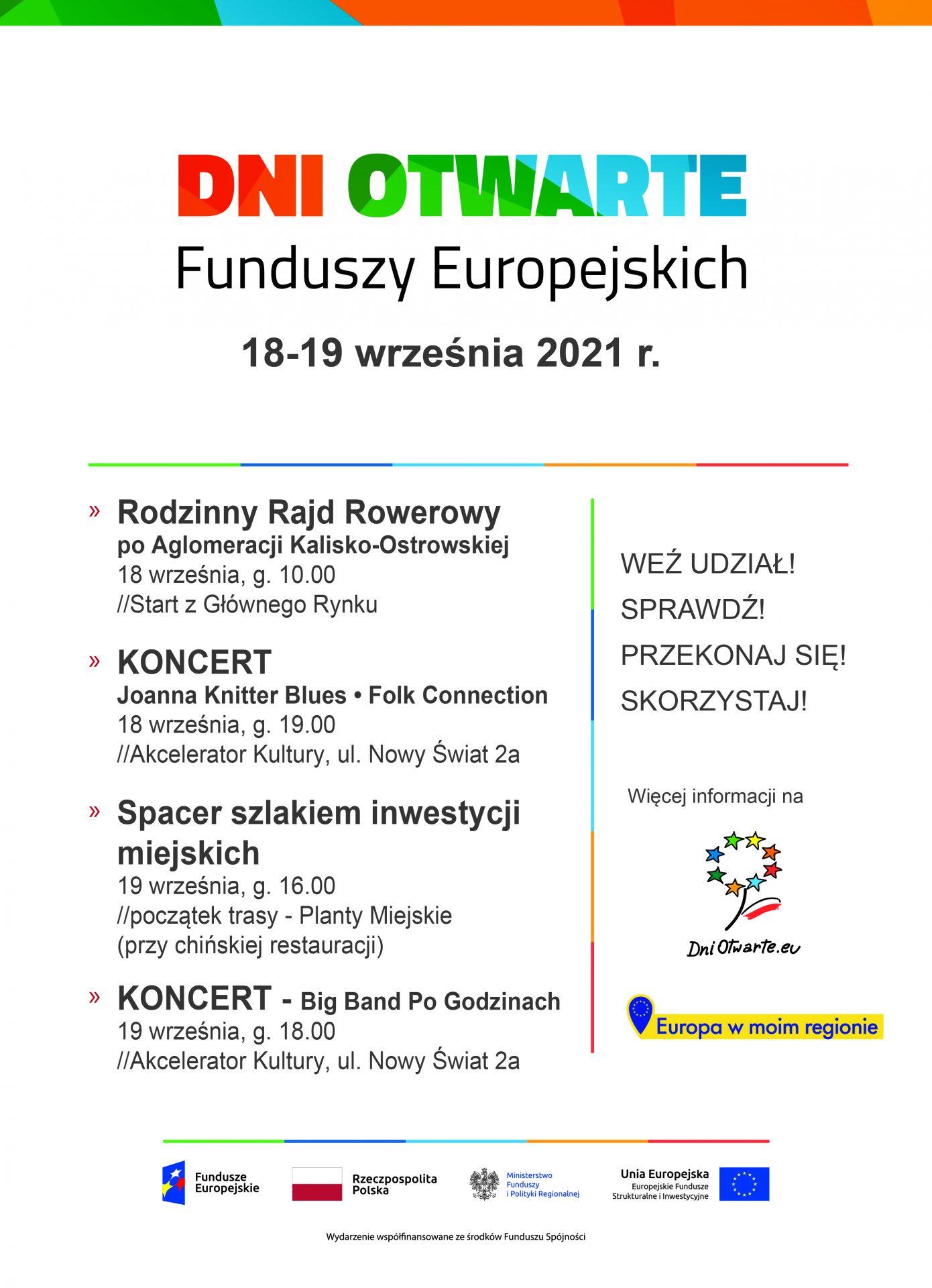 dni otwarte funduszy ue 2021 - DNI OTWARTE FUNDUSZY EUROPEJSKICH