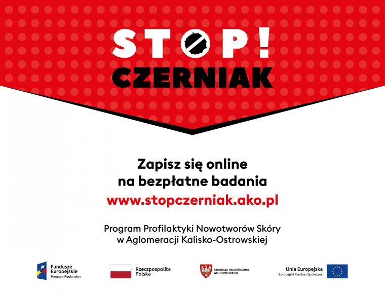 stop czerniak witryna 2021 - Bezpłatne badanie w kierunku wykrywania raka czerniaka dla mieszkańców AKO 18 września 2021 roku od godziny 8:00 do 18:00 na Głównym Rynku