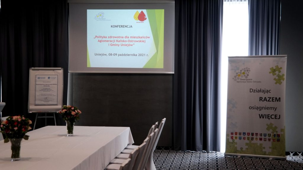 """1 1024x576 - Konferencja pn.""""Polityka zdrowotna dla mieszkańców Aglomeracji Kalisko-Ostrowskiej iGminy Uniejów""""."""